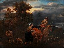 ANONYMOUS XIX (Genre Nicolaes Berchem (1620-1683))   ANONYMOUS XIX (aft