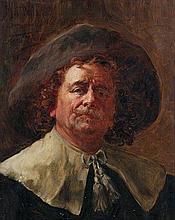 LEON HERBO (1850-1907)   Self portrait in 17th century costume. Canvas.