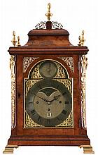 George III table clock with quarter chiming on eight bells, circa 1775. Sig