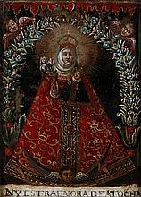 ANONYMOUS XVIII Spanje/Espagne   ANONYMOUS XVIII Spain  Madonna sur