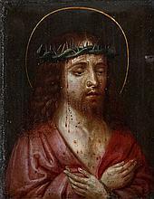 ANONYMOUS XVII/XVIII Spaine   ANONYMOUS XVII/XVIII  Christ with the