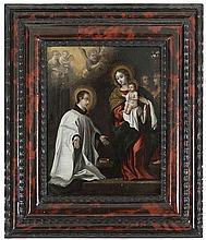 ANONYMOUS XVII Antwerpe   ANONYMOUS XVII Antwerp  Saint (Benedict?)