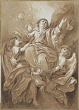 JEAN BAPTISTE HUET (1745 - 1801) to be attributed to   to be attrubuted