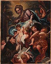 FRANCESCO SOLIMENA (1657-1747) circle   circle  The vision of Saint