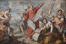 GIOVANNI ANTONIO GUARDI (1698-1760) XVIII genre   genre  Moses save