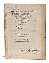 (history) Ad librum eximii magistri. Wittemberg (Melchior Lotter), 1521. Sm