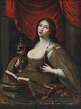 ANONYMOUS XVII Spaine (?)   ANONYMOUS XVII (Iberian?)  Female saint