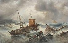 AUGUSTE MUSIN (1852-1920)   Shipwreck. Canvas.  Signed 'A Musin'.