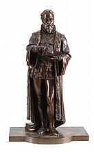 LEON PILET (1840-1916)   Ambroise Paré, anatomy expert-doctor. Bronze,