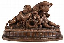 CALENDI   Bacchic group.  Terra cotta.  Marked with stamp and n