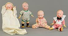 LOT OF FOUR GEBRUDER HEUBACH CHARACTER DOLLS