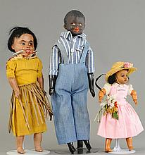 LOT OF THREE BLACK DOLLS