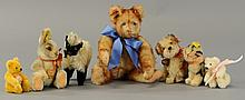 LOT OF STEIFF BEARS AND ANIMALS