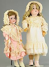 TWO GERMAN BISQUE CHILD DOLLS
