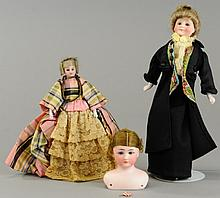 LOT OF THREE EDWARDIAN DOLLS