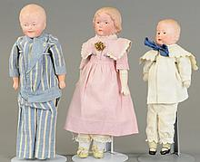 LOT OF THREE GEBRUDER HEUBACH CHARACTER DOLLS