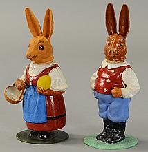 TWO GERMAN COMPOSITION BUNNIES