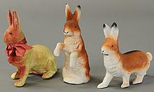 THREE COMPOSITION EASTER BUNNYS