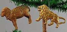LARGE GOLDEN LION AND SHEEP