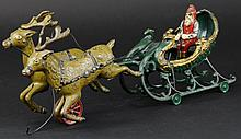 SANTA SLEIGH WITH WHITE REINDEER
