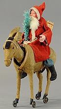 IMPRESSIVE SANTA ON NODDING DONKEY