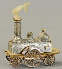 EARLY DRESDEN STEAM LOCOMOTIVE CANDY CONTAINER