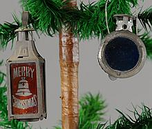 TWO WHALE OIL CHRISTMAS LANTERNS