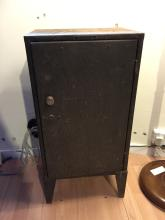 *An Owen & Randall metal cabinet.