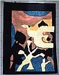 Original et important Tapis Contemporain Moderne d'après un carton de Georges Braque