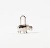HERMES Paris made in France  Porte-clefs en palladium figurant un hippopotam, titré