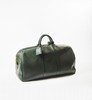 Louis VUITTON  Sac de voyage 57 cm en cuir taïga vert, double poignée, fermeture éclair, porte-nom.