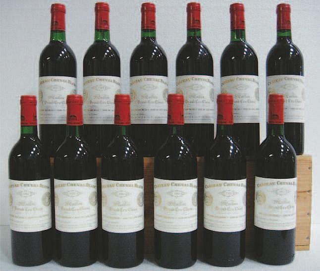 Wine: 12 Bottles CHÂTEAU CHEVAL BLANC (Caisse