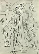 Jean COCTEAU 1889-1963    Chevalier du Saint Sépulcre, vers 1963