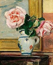 Albert ANDRÉ 1869-1954   Vase de roses