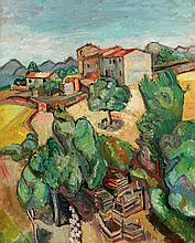 Pinchus KREMEGNE 1890-1981   Paysage
