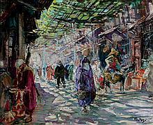 Henri PONTOY 1888-1968   LES SOUKS COUVERTS