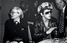 Allan TANNENBAUM, né en 1945   Andy Warhol & Lou Reed New York City