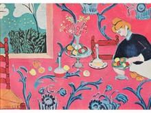 Henri MATISSE 1869-1954  Femme composant une corbeille de fruits  Estampe   15 x 21