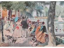 Auguste RENOIR 1841-1919  Promenade au bord de l'eau  Estampe   15 x 21
