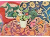 Henri MATISSE 1869-1954  Nature morte au pot de fleurs  Estampe   14,5 x 20,5