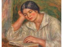 Auguste RENOIR 1841-1919  Jeune fille lisant un livre  Estampe   40 x 50