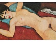 Amédéo MODIGLIANI 1884-1920  Femme nue allongée  Estampe  15,5 x 23,5
