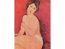 Amédéo MODIGLIANI 1884-1920  Femme nue assise  Estampe    27,5 x 20