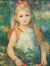 Auguste RENOIR 1841-1919   Jeune fille   Estampe   33 x 25