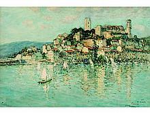 Fernand Fortuné TRUFFAUT 1866-1955   Cannes, Le Suquet, 27.12.1922   Aquarelle signée en bas à droite et située Cannes   36 x 54