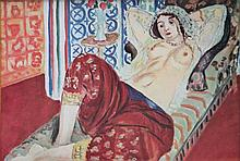 Henri MATISSE 1869-1954   Femme allongée sur un sofa   Estampe   16,5 x 23,5