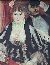 Auguste RENOIR 1841-1919   La loge de théâtre   Estampe   23 x 18,5