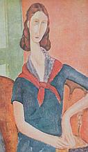 Amedeo MODIGLIANI 1884-1920   Femme assise   Estampe   14 x 8,5