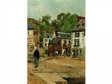 Pierre Louis Léger VAUTHIER 1845-1916   Le Légué, 1886   Huile sur panneau signée, située, datée et dédicacée en bas à droite   24,5 x 16,5