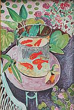 Henri MATISSE 1869-1954   Les poissons rouges   Estampe    23,5 x 15,5
